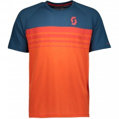 Велофутболка Scott Trail DRI 80 tangerine orange/eclipse blue