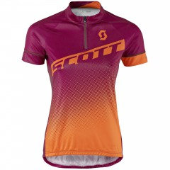 Женская велофутболка Scott Endurance 40 plum violet/carrot orange 2017
