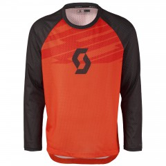 Велофутболка Scott Trail DH tangerine orange/fiery red