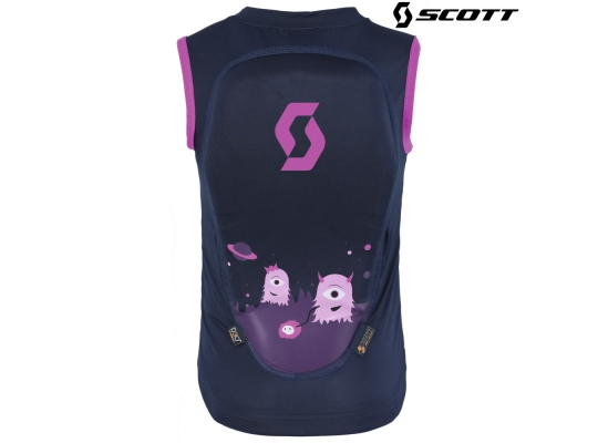 Детская защита на спину Scott Soft Actifit Junior Vest black iris/pink print