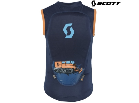 Детская защита на спину Scott Soft Actifit Junior Vest black iris/orange print