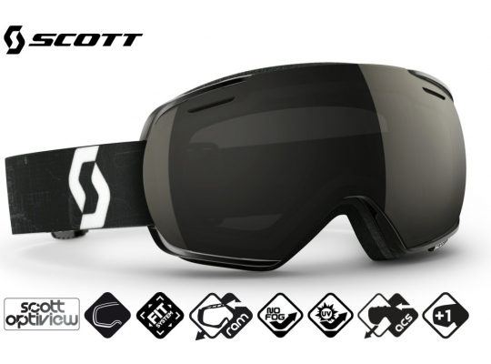 Лыжная маска Scott Linx schematic black