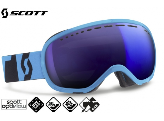 Лыжная маска Scott Off-Grid neon blue