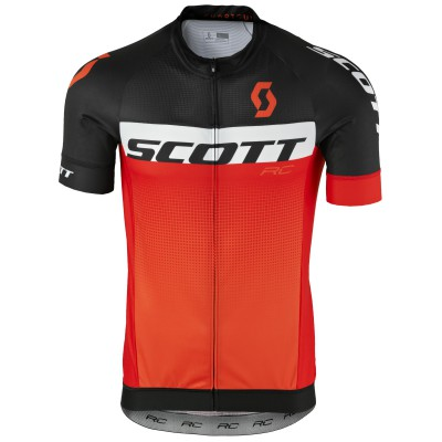 Велофутболка Scott RC Pro black/tangerine orange 2017