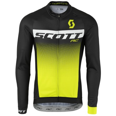 Велофутболка Scott RC Pro LS black/sulphur yellow 2017