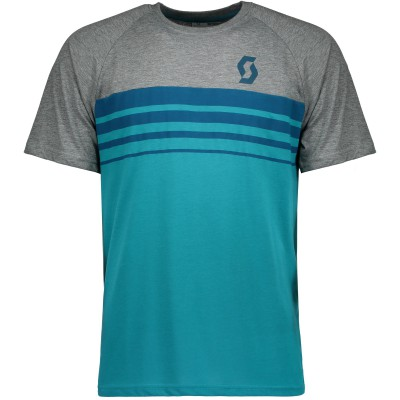 Велофутболка Scott Trail DRI 80 sea blue/dark grey melange
