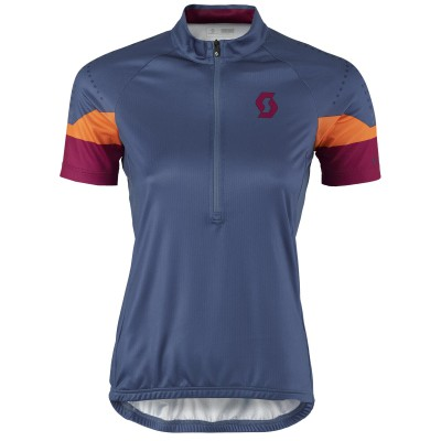 Женская велофутболка Scott Endurance 30 ensign blue/plum violet 2017
