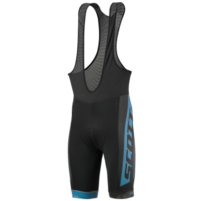 Велошорты Scott RC Team bibshorts black/blue coral 2017