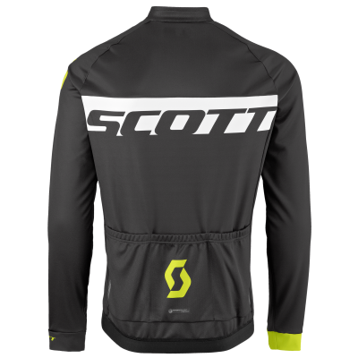 Велокуртка с мембраной Scott RC AS black/sulphur yellow 2017