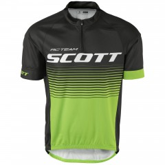 Велофутболка Scott RC Team 20 black/jasmine green
