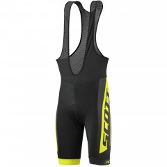 Велошорты Scott RC Team bibshorts black/sulphur yellow 2017